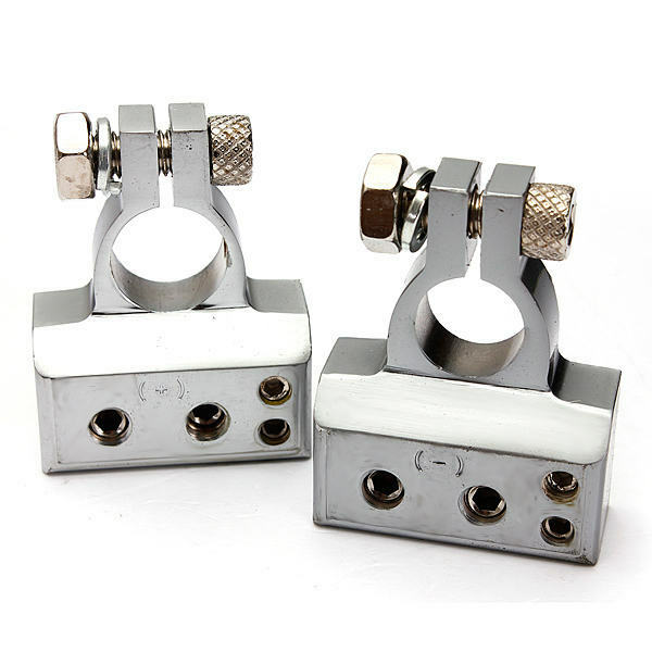 2pcs (- and +) Car Battery Terminal Clamp Copper alloy Connector With cover