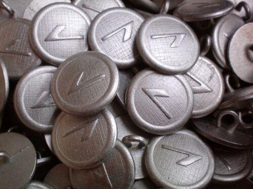 20mm 32L Light Silver Grey Satin Metal Tick Shank Jacket Costume Buttons XM23