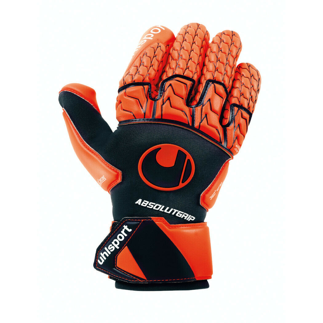 Uhlsport Next Level AbsolutGrip Reflex Torwarthandschuhe dunkelblue orange