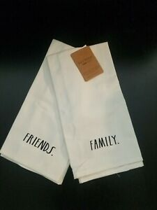 Rae Dunn Friends Family Kitchen Towels Set Of 2 New Ebay