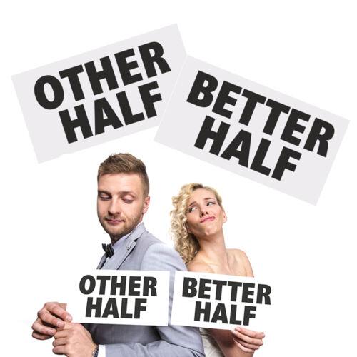 """SALE Schild /""""Other Half /& Better Half/"""" Photo Booth Props Verkleidung Fotobox"""