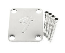 Genuine Fender F Neckplate Chrome 099-1448-100