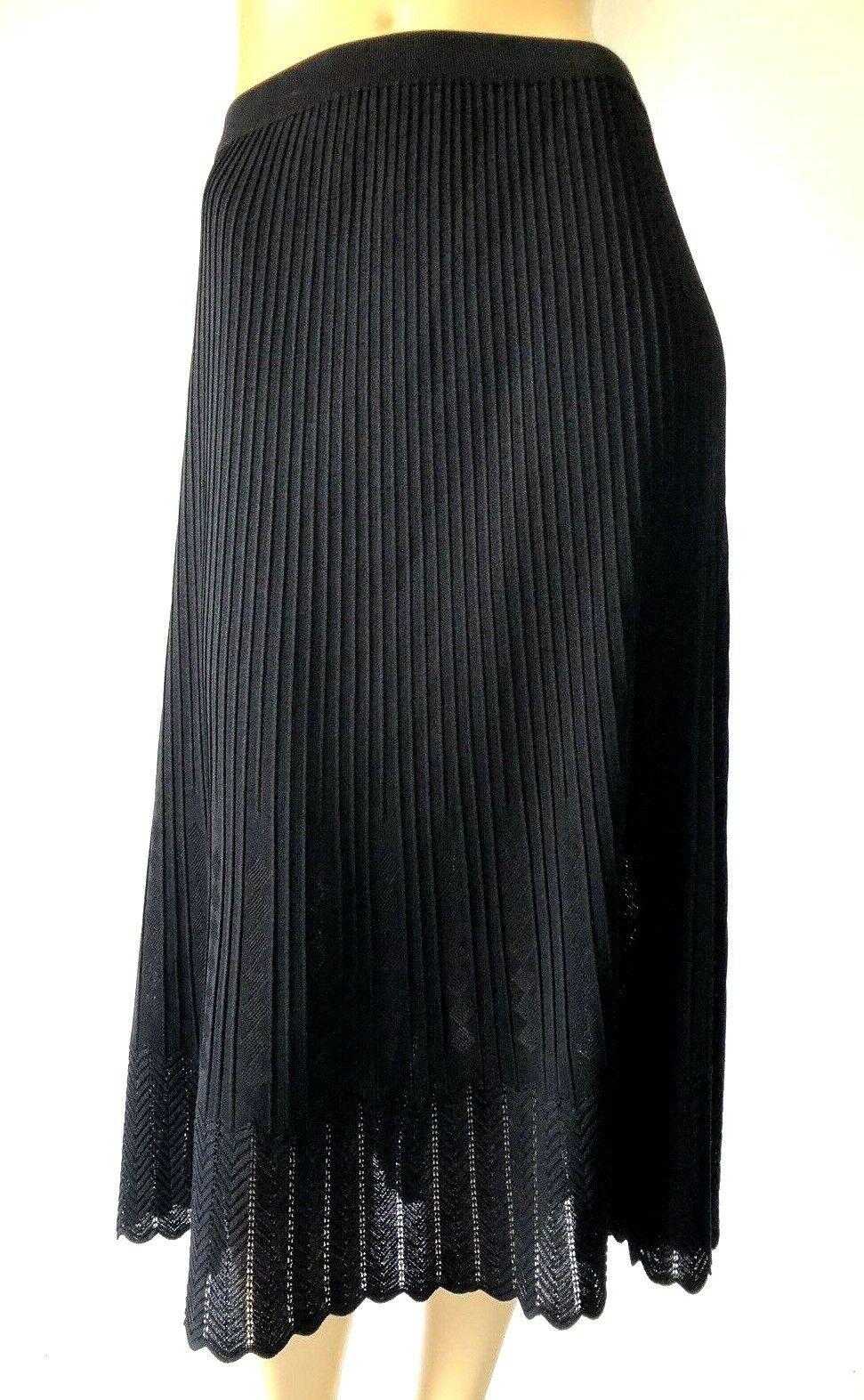 MARIE ST. MONET COLLECTION acrylique noir Knit Midi A-Line jupe XL