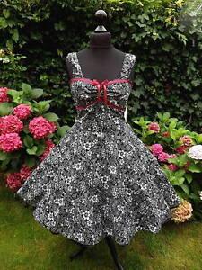 ba8e88b65da6 Das Bild wird geladen 50er-Rockabilly-Petticoat-Pinup-Konfirmation-Abiball- Abend-Kleid-