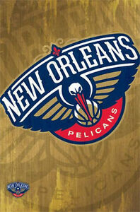 NEW-ORLEANS-PELICANS-LOGO-POSTER-22X34-SHRINK-WRAPPED-NBA-BASKETBALL-2432