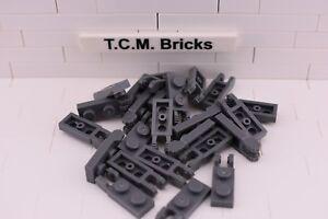 TCM Compatible Bricks Dark Blush Gray Hinge Plate 1x2 2 Fingers End QTY:50 Pcs