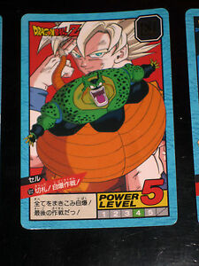 DRAGON BALL GT Z DBZ SUPER BATTLE POWER LEVEL CARDDASS CARD CARTE 612 JAPAN NM