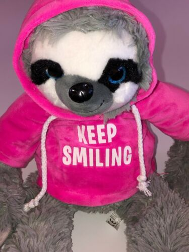 Keep Smiling 43 cm Faultier mit rosa Pullover Rosa ca Text