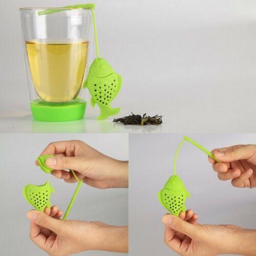 TeaTool Fish Silicone Loose Leaf Tea Infuser Handle Tea Filter Strainer Diffuser