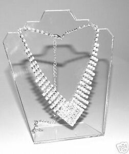 12-X-CLEAR-ACRYLIC-DISPLAY-JEWELLERY-PENDANT-BUST