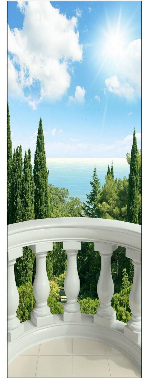 Aufkleber Schein Auge Balkon 120x200cm
