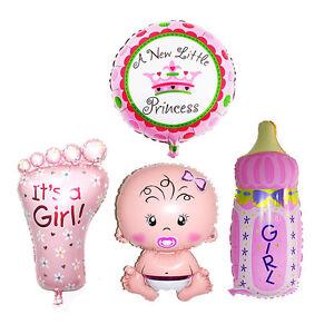 4Pcs-Girl-Foil-Helium-Balloon-For-Newborn-Baby-Shower-Christening-Birthday-Party