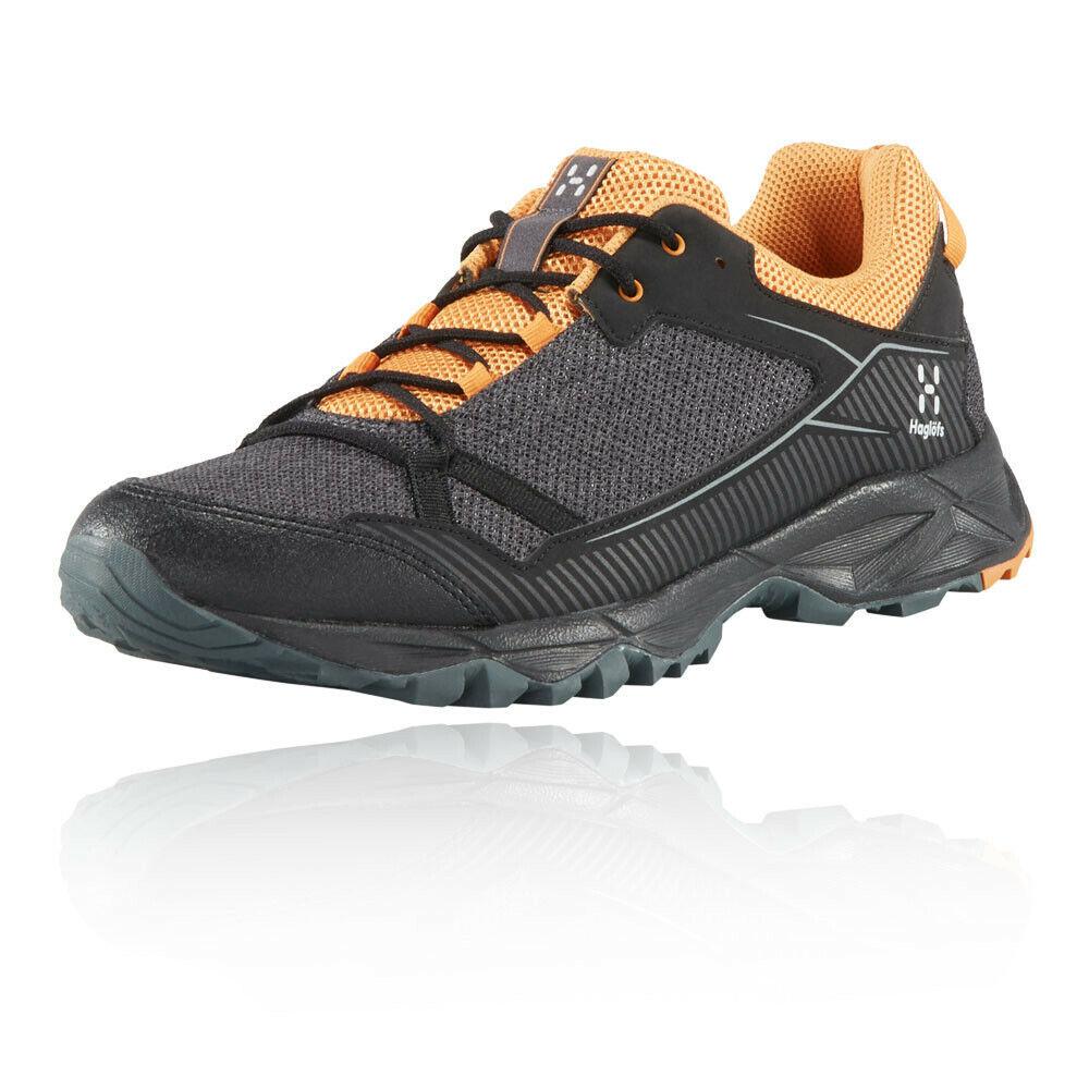 Haglofs mannens Trail Fuse wandelen schoenen zwart kudde oranje Sports Buitenshuis