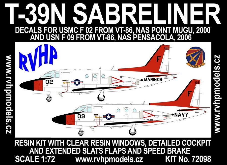 RVHP Models 1 72 North American T-39N Sabreliner (USMC and USN VT-86)