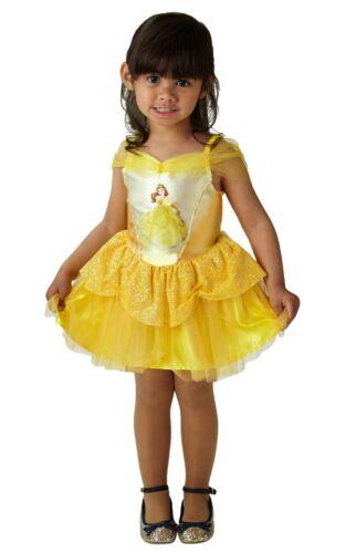 Girls Ballerina Belle Costume Disney Princess Child Fairytale Fancy Dress Outfit