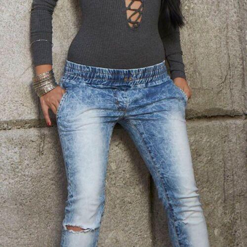 By ALINA Jeans Tubolari Lufti Boyfriendhose Jeans Pantaloni Jeans hüftjeans BLU XS-M