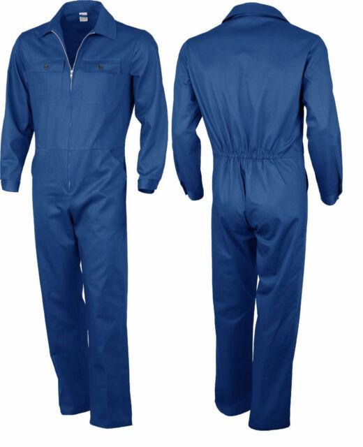 Kombi Overall Anzug Blaumann blau Arbeitsoverall Arbeitsanzug Ralleykombi 42-68