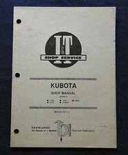 1985 Kubota L175 L210 L225 L225dt L260 Tractor I Amp T Service Shop Repair Manual
