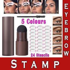 Waterproof Eyebrow Stamp Shaping Kit Eye Brow Power Stencils Definer Makeup Set