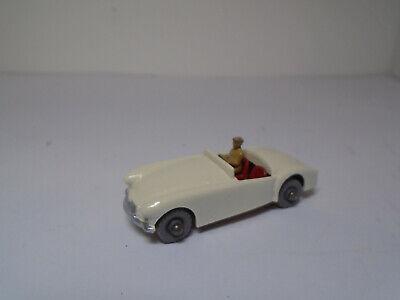 RESTORED NM! Vintage Moko Lesney Matchbox #19B MGA SPORTS CAR WHITE  BODY,GMW