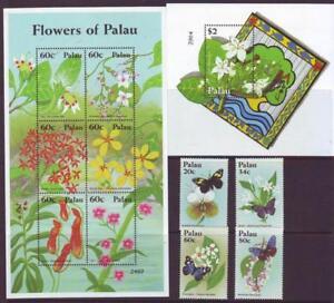 PALAU-2012-FLOWERS-SET-4-SHEETLET-6-MINISHEET-Part-1-MINT-NEVERHINGED