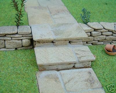100 sq ins Real Stone Sandstone Miniature Random Flags for Dolls Houses /& Models