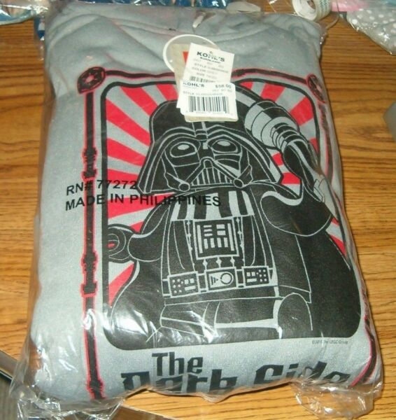 Star Wars Darth Vader 2-pc Hooded Fleece Set Sizes 14/16 RV $58 NWT
