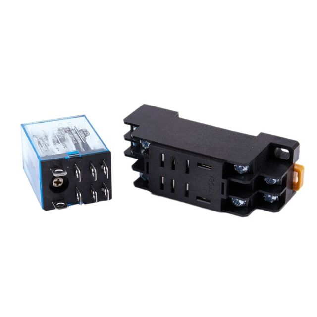 12V DC Coil Power Relay DPDT LY2NJ HH62P-L JQX-13F 10A With PTF08A Socket B Y2S3