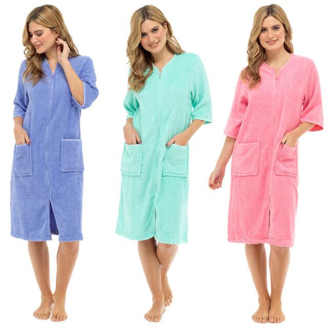 Lora Dora Womens Zip Through Dressing Gown