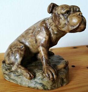 Ernst-BECK-1879-1941-Chien-Bulldog-en-pierre-naturelle-sculptee
