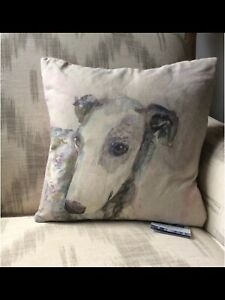 Greyhound-Whippet-Linen-Pillow
