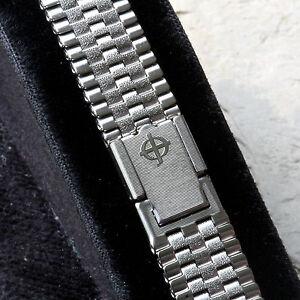 Brick-link-vintage-Zodiac-watch-steel-NSA-band-Swiss-1960-70s-12mm-13mm-or-14mm