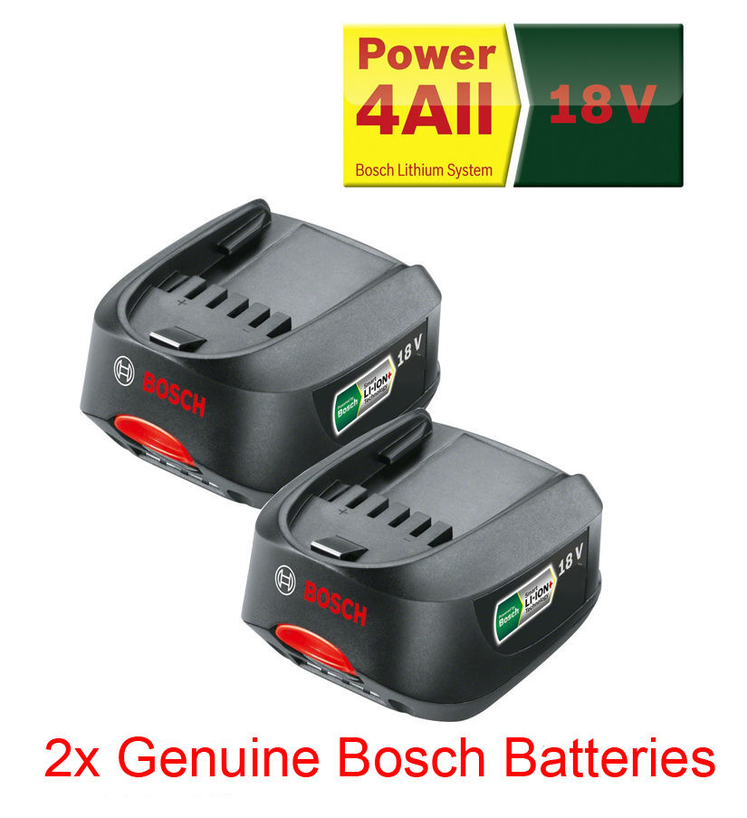 twin pack genuine bosch 18v power4all battery 2 0ah x2. Black Bedroom Furniture Sets. Home Design Ideas