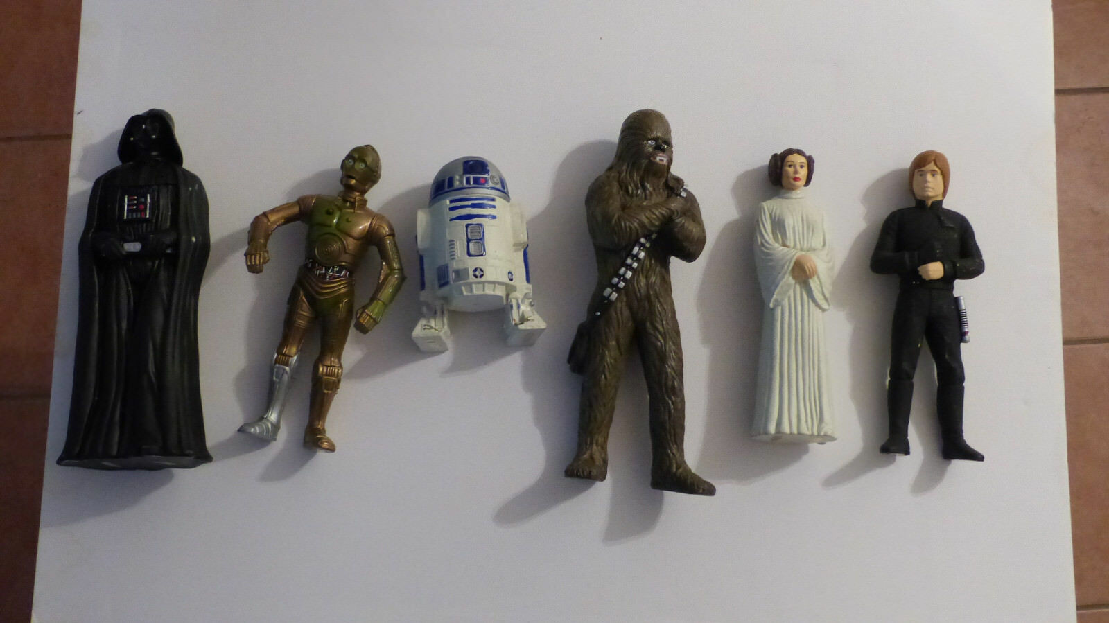 RARE 1993 1993 1993 Star Wars Out of Character Lot(6) VADER, C3PO, R2D2, CHEW, LEIA, LUKE bcdf3e