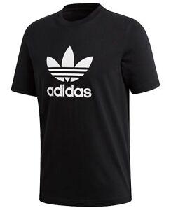 f0fd940ee Adidas Men s Originals Trefoil T-Shirt Tee Crew Neck Cotton Black ...