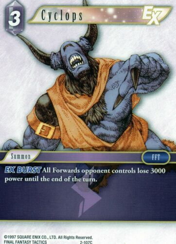 Final Fantasy Opus I  /&  Opus II   Common    Individual Trading Cards