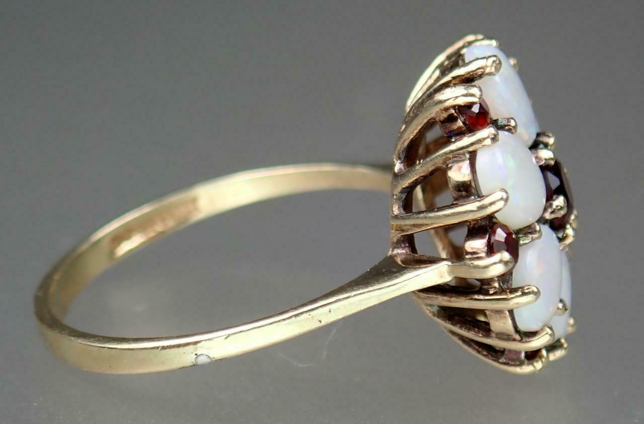Beautiful Vintage Estate 9K Gold 1.1ct Opal Garne… - image 8