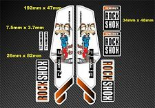 Rock Shox Reba  Style Suspension Fork Decal/Stickers rx10