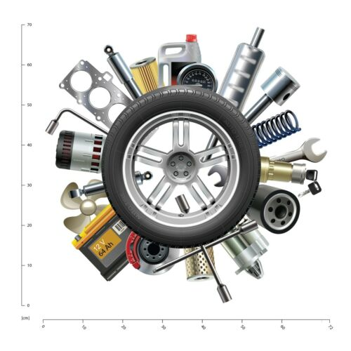 Autoteile Rad Wandtattoo WS-41185