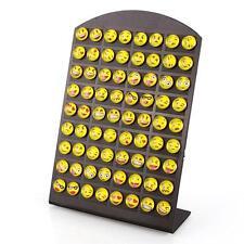New 36 Pairs/Card Emoji Earring Cartoon Smile Funny Face Ear Stud DIY Jewelry