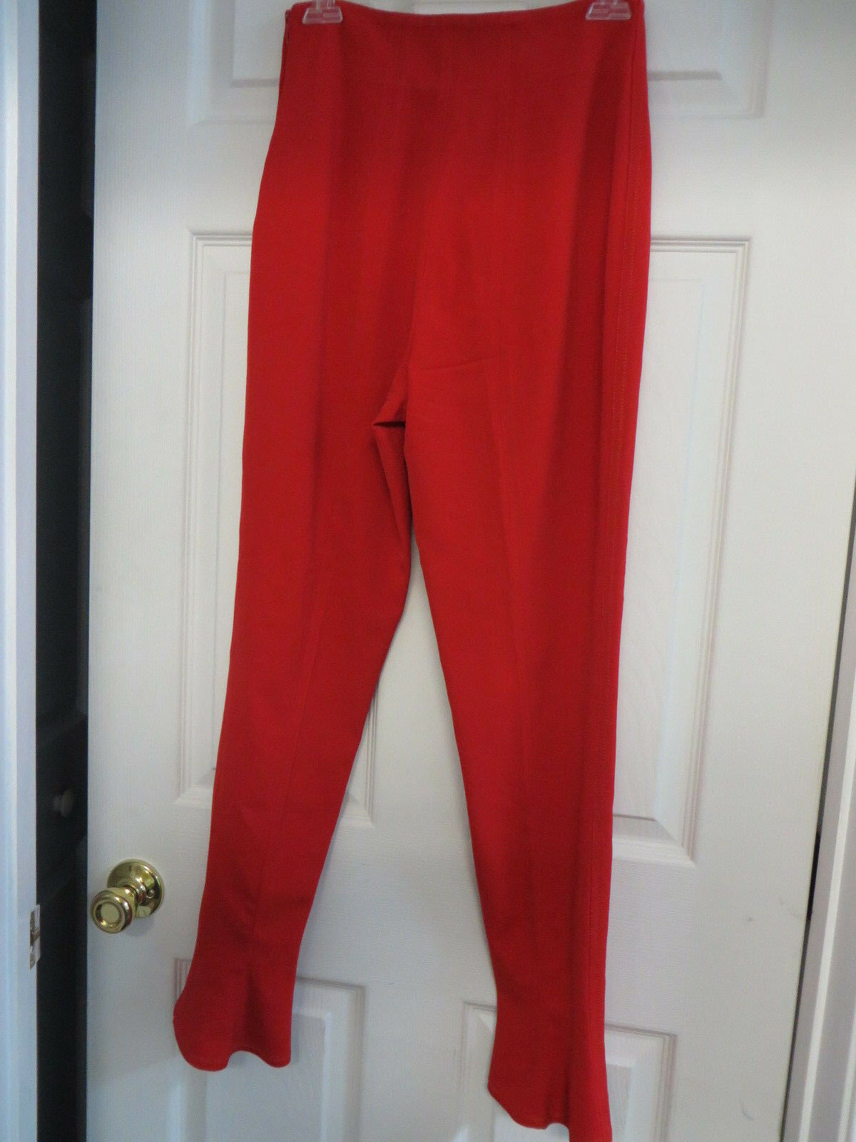 GIANNI VERSACE  wool spandex blend straight leg flair hem sassy red pants Small