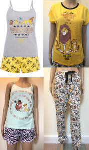 983ffa29 Details about Lion King Disney Ladies PJS Women's Pyjamas Hakuna Matata  Primark Shorts Vest