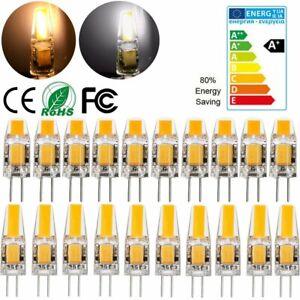 12x 10x G4 COB LED 3W 6W Birnen AC/DC 12V Lampen Warmweiß Kaltweiß Leuchtmittel