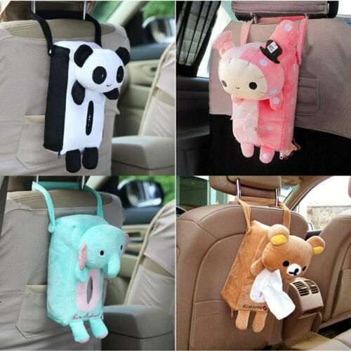 Cute Animal Car Tissue Holder Back Hanging Tissue Box Covers Napkin Box 4 Colors