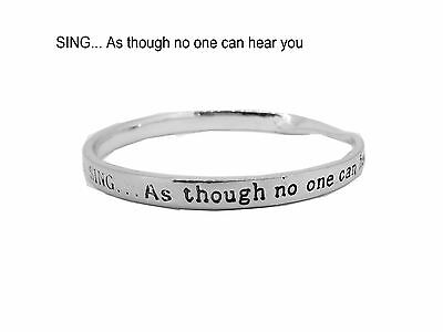 Sterlina Mi Milano Sentimental Bangle Bracelet Meaningful Message Quote Gift