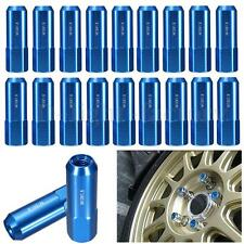 NEW 20 PCS Blue 60MM Aluminum Extended Tuner LUG Nuts For Wheels/Rims M12X1.5
