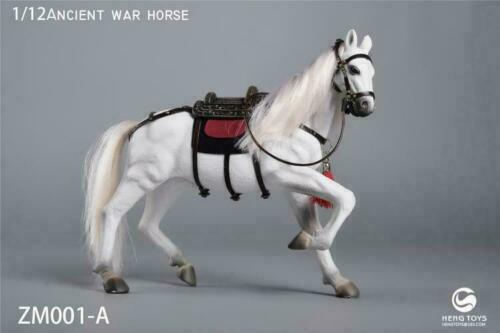 HENG Toys 1 12 ZM001A White Ancient War Horse Running Position With Accessories