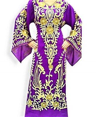 MAROON  FARASHA KAFTAN FANCY AFRICAN DUBAI ABAYA CAFTAN DRESS MS CREATION088
