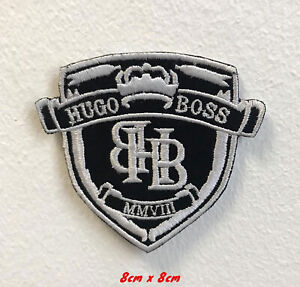 Details zu Hugo Boss art badge clothes Embroidered Iron on Sew on Patch