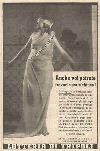 Y3360 Lotteria di TRIPOLI - Pubblicità d'epoca - 1935 vintage advertising - Italia - Y3360 Lotteria di TRIPOLI - Pubblicità d'epoca - 1935 vintage advertising - Italia